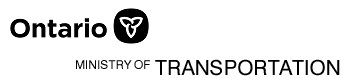 Ontario Province and Ministry of Transportation logo